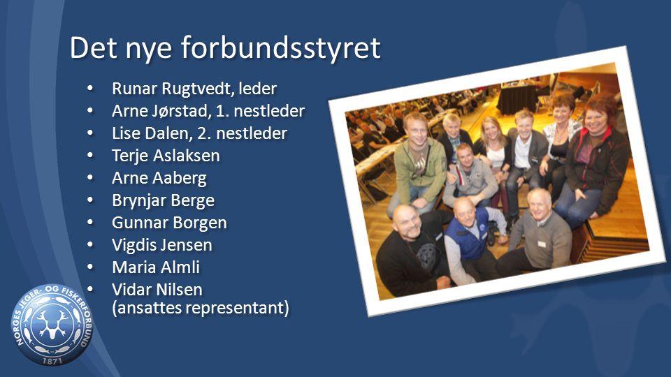 Det nye forbundsstyret Runar Rugtvedt, leder Arne Jørstad, 1.