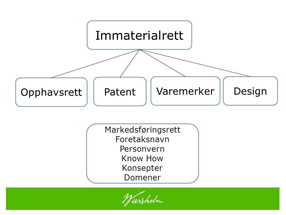 Innenfor ethvert teknisk område har den som har gjort en oppfinnelse som kan utnyttes industrielt, eller den som oppfinnerens rett er gått over til, i overensstemmelse med denne lov rett til etter søknad å få patent på oppfinnelsen og derved oppnå enerett til å utnytte den i nærings- eller driftsøyemed. Patentloven § 1 (1)