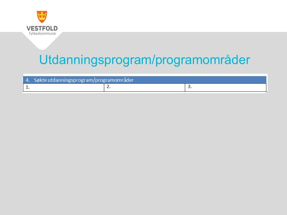 Utdanningsprogram/programområder