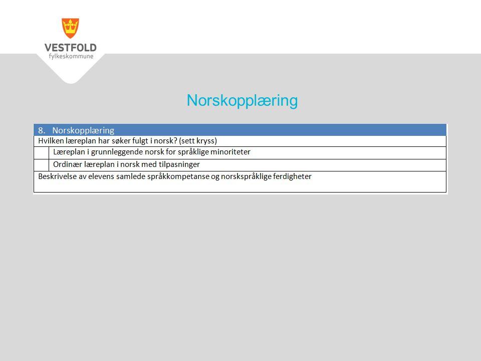 Norskopplæring