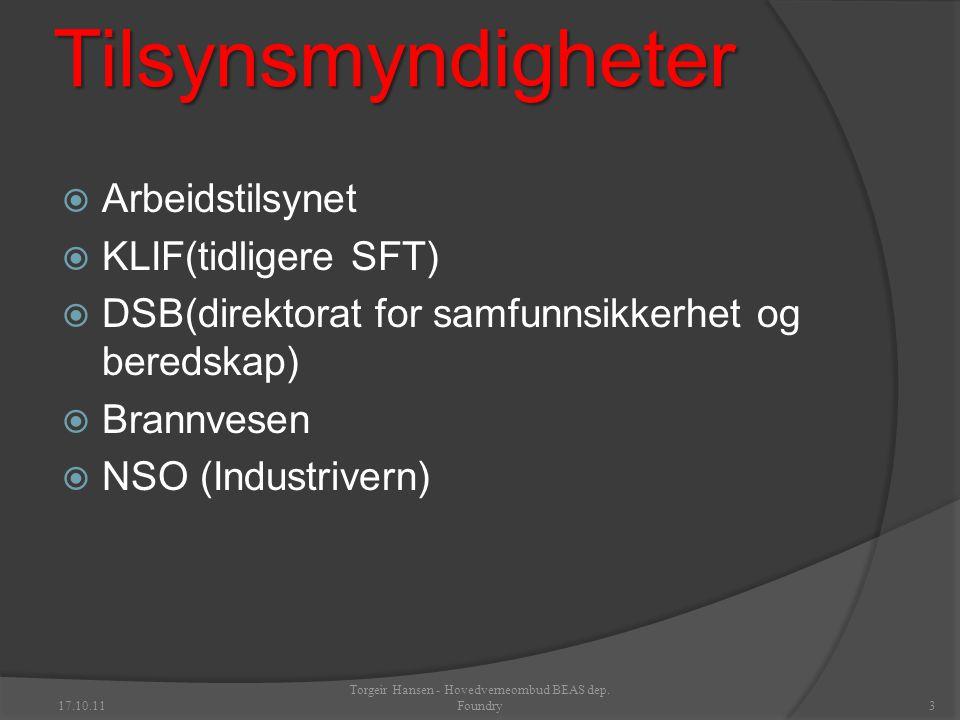 17.10.11 Torgeir Hansen - Hovedverneombud BEAS dep. Foundry13 THE END