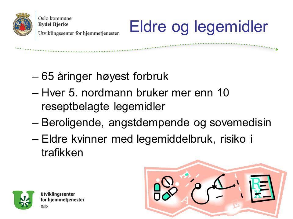 Eldre og legemidler –65 åringer høyest forbruk –Hver 5.