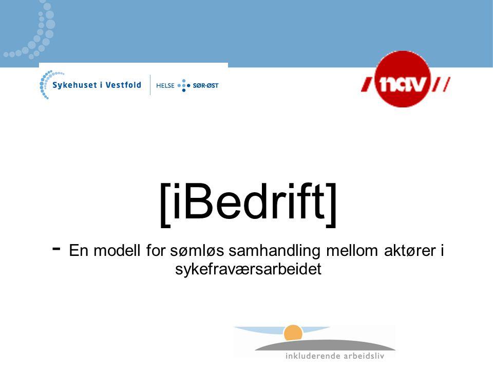 [iBedrift] - En modell for sømløs samhandling mellom aktører i sykefraværsarbeidet