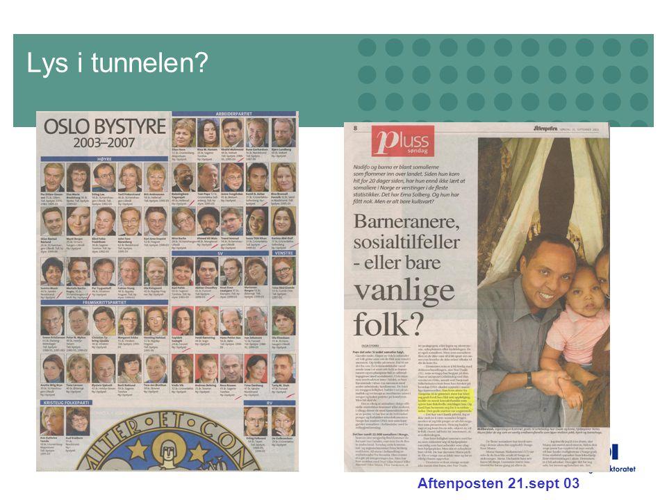 Side 19 Lys i tunnelen? Aftenposten 21.sept 03