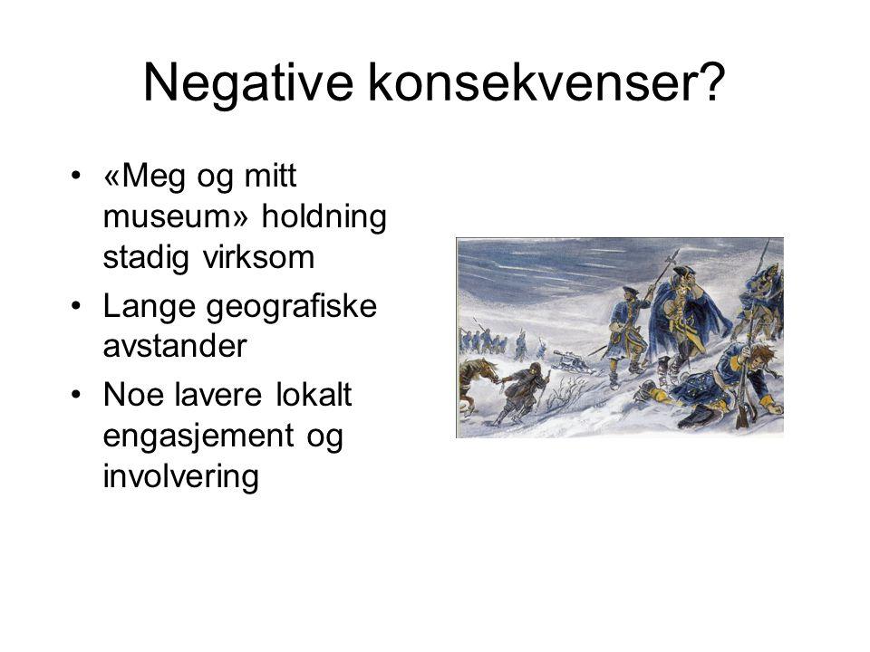 Negative konsekvenser.