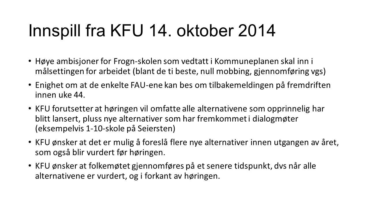 Innspill fra KFU 14.