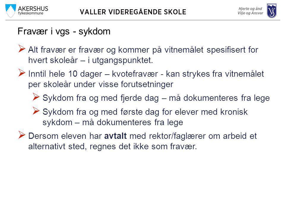 Fagdag for Vg1 på Valler  Fagdag betyr at elevene har bare ett fag hele dagen.