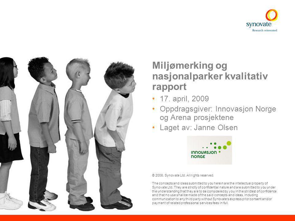 11 © Synovate 2008 Miljømerking