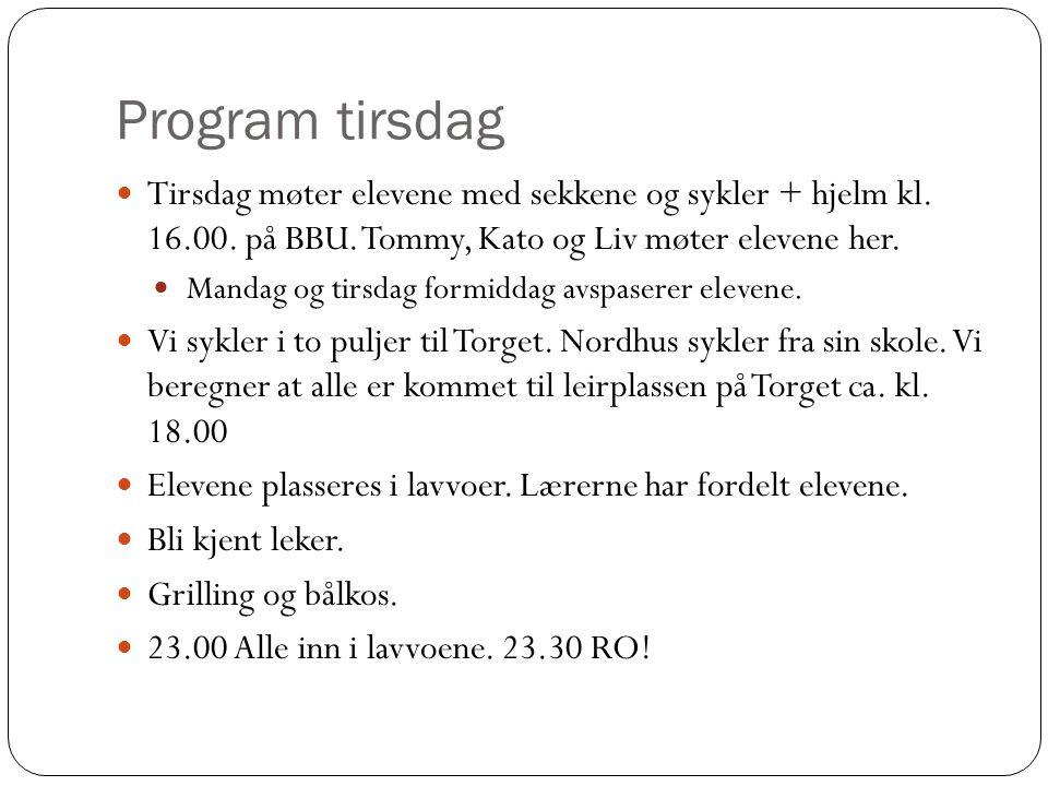 Program onsdag og torsdag 08.30 – 09.30: Frokostbuffe.