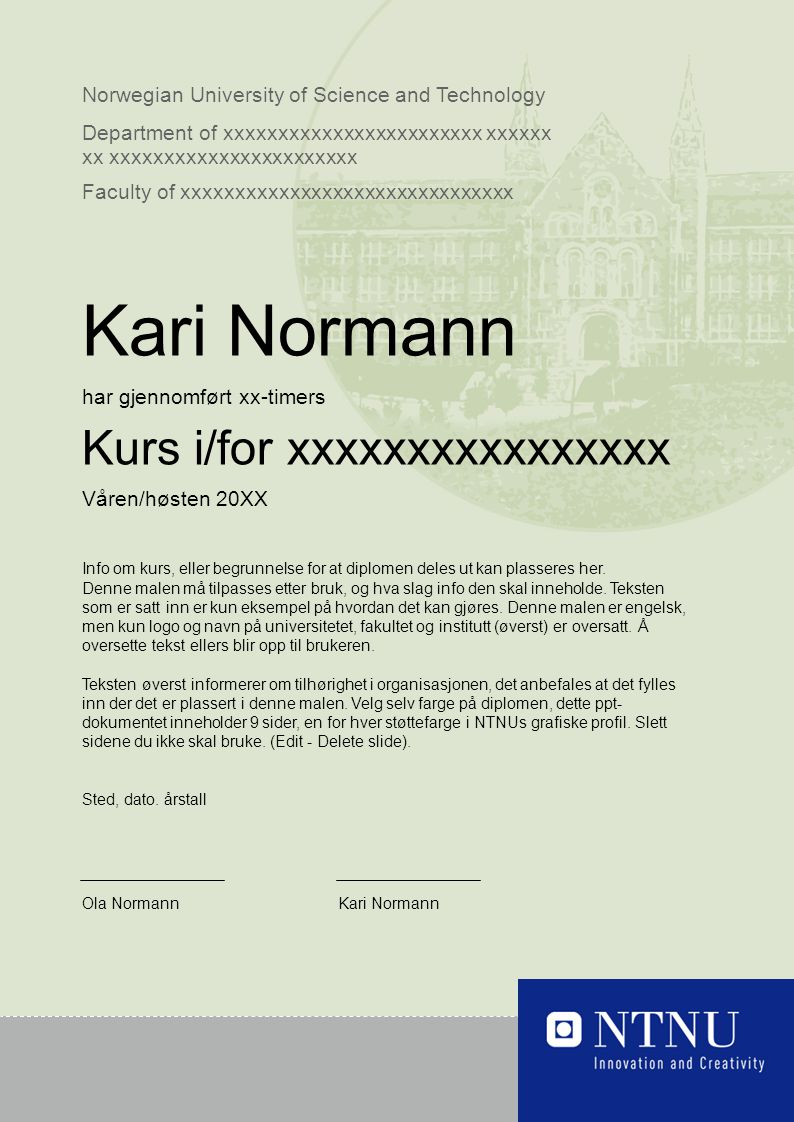 Norwegian University of Science and Technology Department of xxxxxxxxxxxxxxxxxxxxxxxx xxxxxx xx xxxxxxxxxxxxxxxxxxxxxxx Faculty of xxxxxxxxxxxxxxxxxxx
