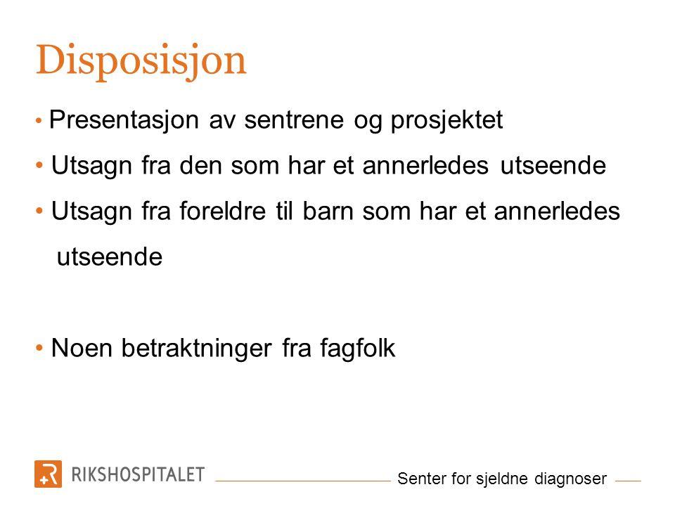 Senter for sjeldne diagnoser Balansere…..