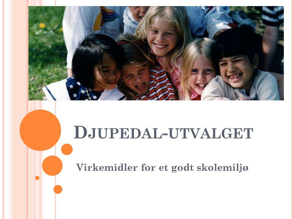 D JUPEDAL - UTVALGET Virkemidler for et godt skolemiljø