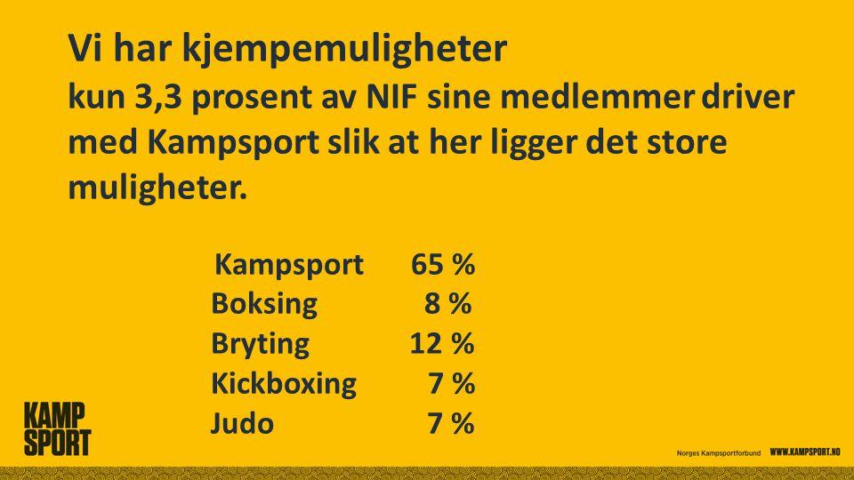 Vi har kjempemuligheter kun 3,3 prosent av NIF sine medlemmer driver med Kampsport slik at her ligger det store muligheter.
