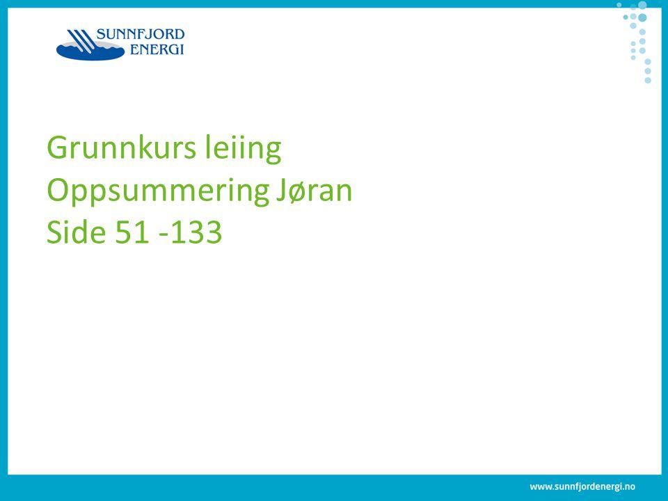 Grunnkurs leiing Oppsummering Jøran Side 51 -133
