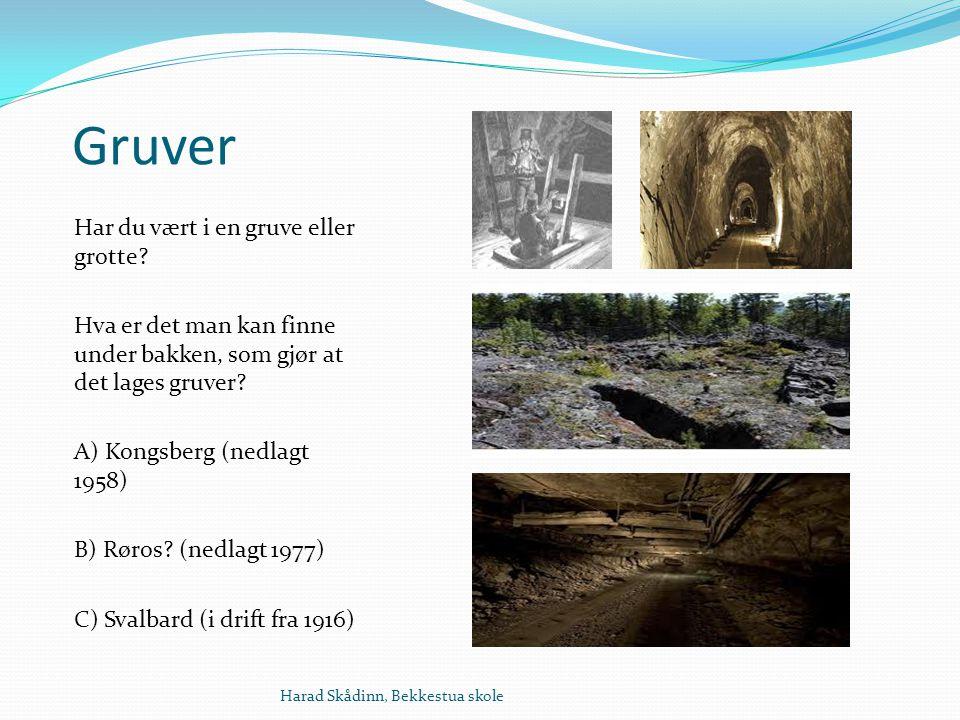 Gruver Har du vært i en gruve eller grotte.