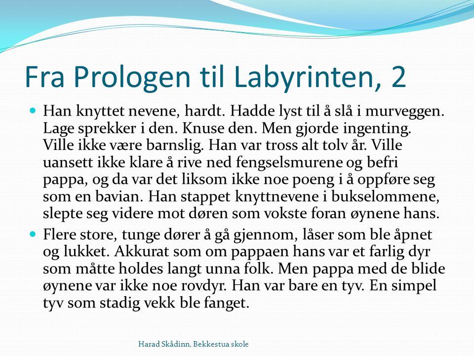 Fra Prologen til Labyrinten, 2 Han knyttet nevene, hardt.