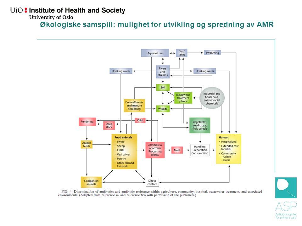 Økologiske samspill: mulighet for utvikling og spredning av AMR