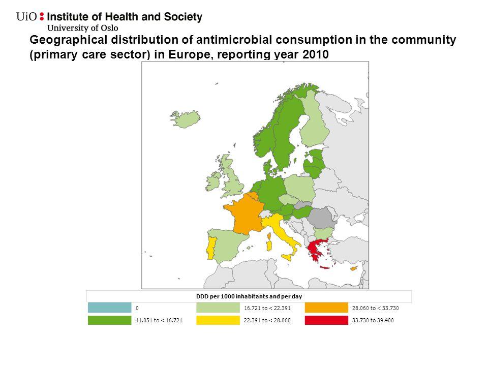 Mål Retningslinjene skal bidra til å opprettholde, og på sikt minske det lave antibiotikaforbruket i Norge, kan redusere med ca 30% (Nederland).