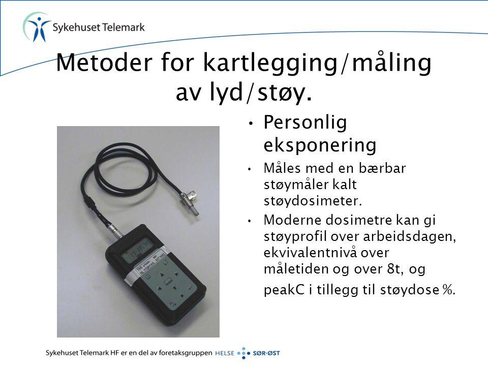 Eksempel på utskrift fra støydosimeter I.