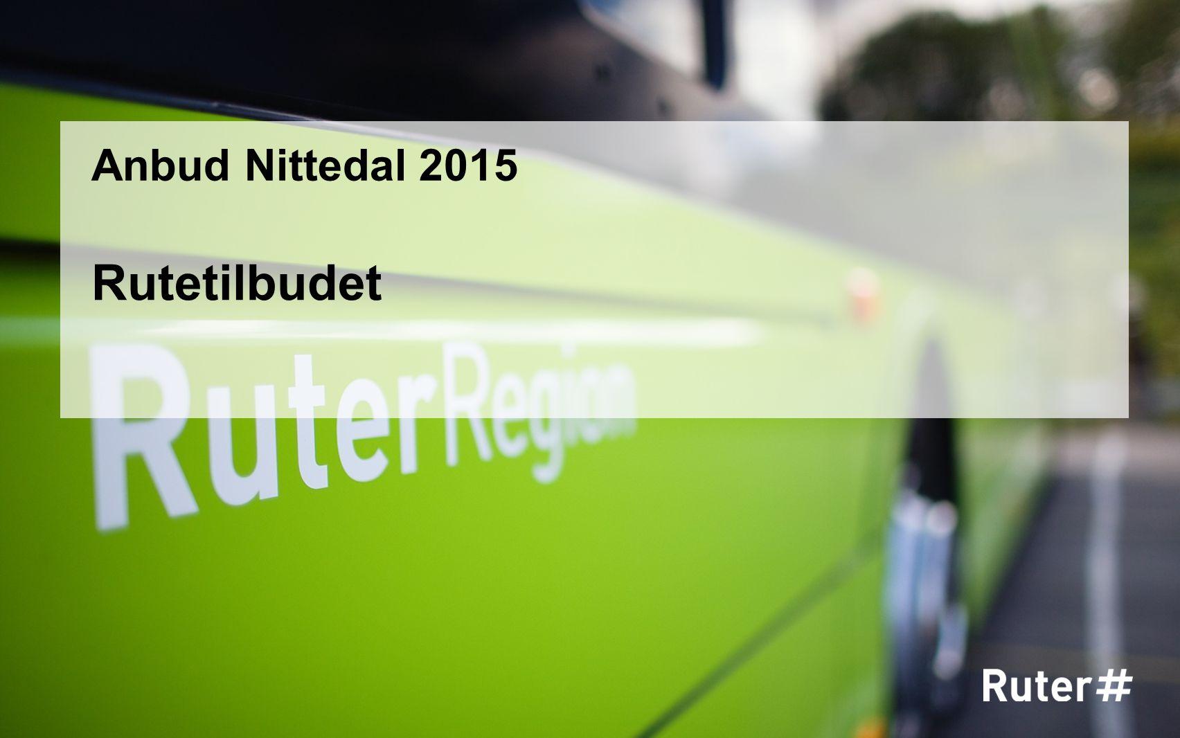 Rutetilbudet Anbud Nittedal 2015