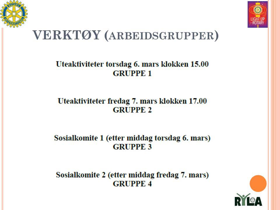 VERKTØY ( ARBEIDSGRUPPER )
