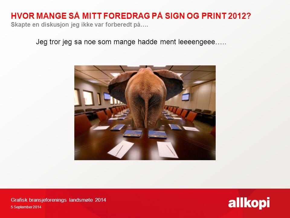 HVOR MANGE SÅ MITT FOREDRAG PÅ SIGN OG PRINT 2012.