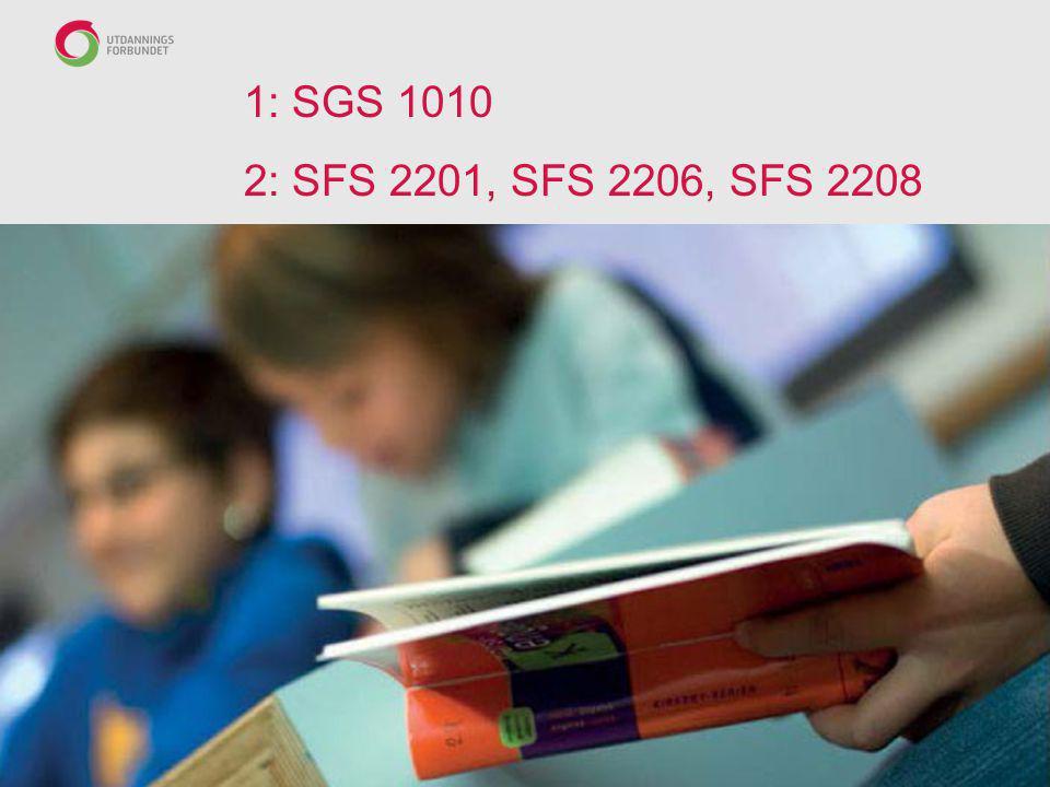 1: SGS 1010 2: SFS 2201, SFS 2206, SFS 2208