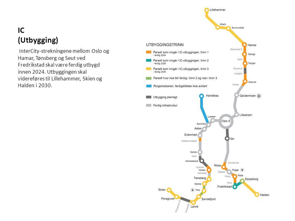 Jærbanen (Planlegging til Egersund) Regjeringa ber Jernbaneverket om å utarbeide kommunedelplan for strekninga Sandnes – Nærbø.