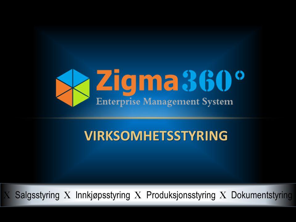 VIRKSOMHETSSTYRING X Salgsstyring X Innkjøpsstyring X Produksjonsstyring X Dokumentstyring
