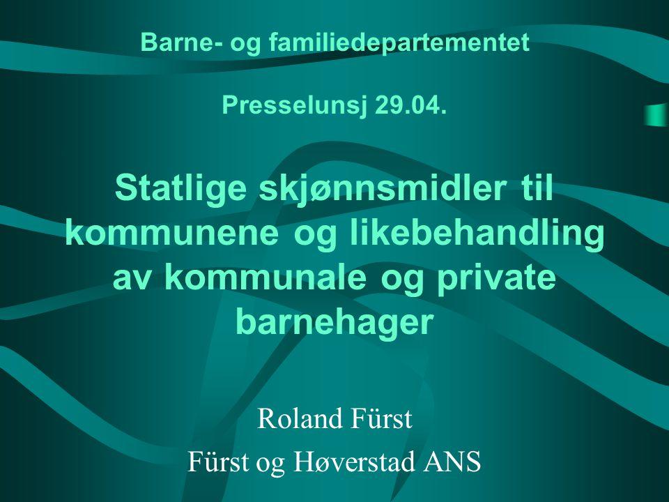 Barne- og familiedepartementet Presselunsj 29.04.