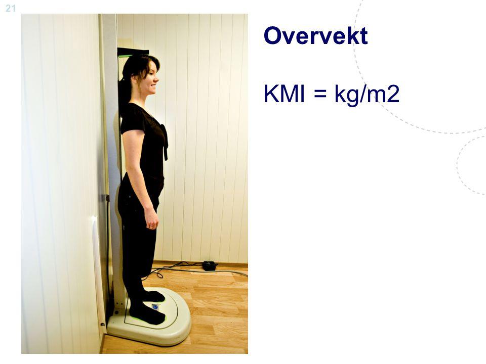 21 Steinar Krokstad Overvekt KMI = kg/m2