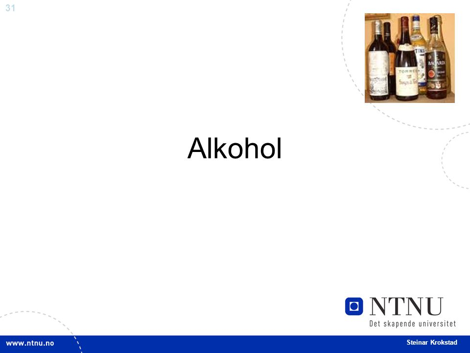 31 Steinar Krokstad Alkohol