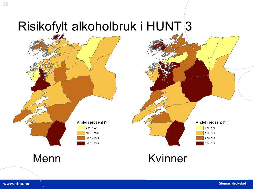 38 Steinar Krokstad Risikofylt alkoholbruk i HUNT 3 MennKvinner