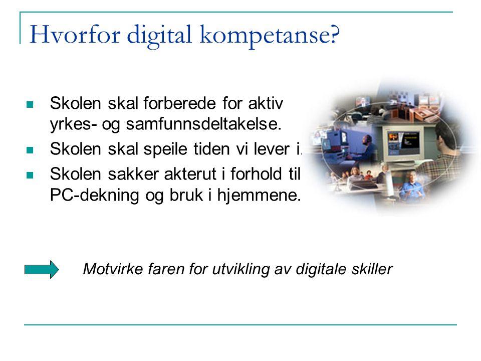 Hvorfor digital kompetanse. Skolen skal forberede for aktiv yrkes- og samfunnsdeltakelse.