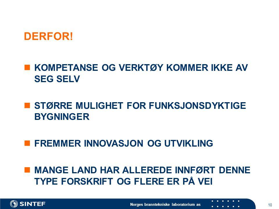 Norges branntekniske laboratorium as 10 DERFOR.