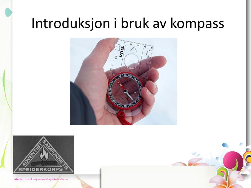 La oss si at du skal ta ut kompasskursen fra Brenibba på Jostedalsbreen (rød prikk) til høyden 1688 mot nordøst (blå prikk).