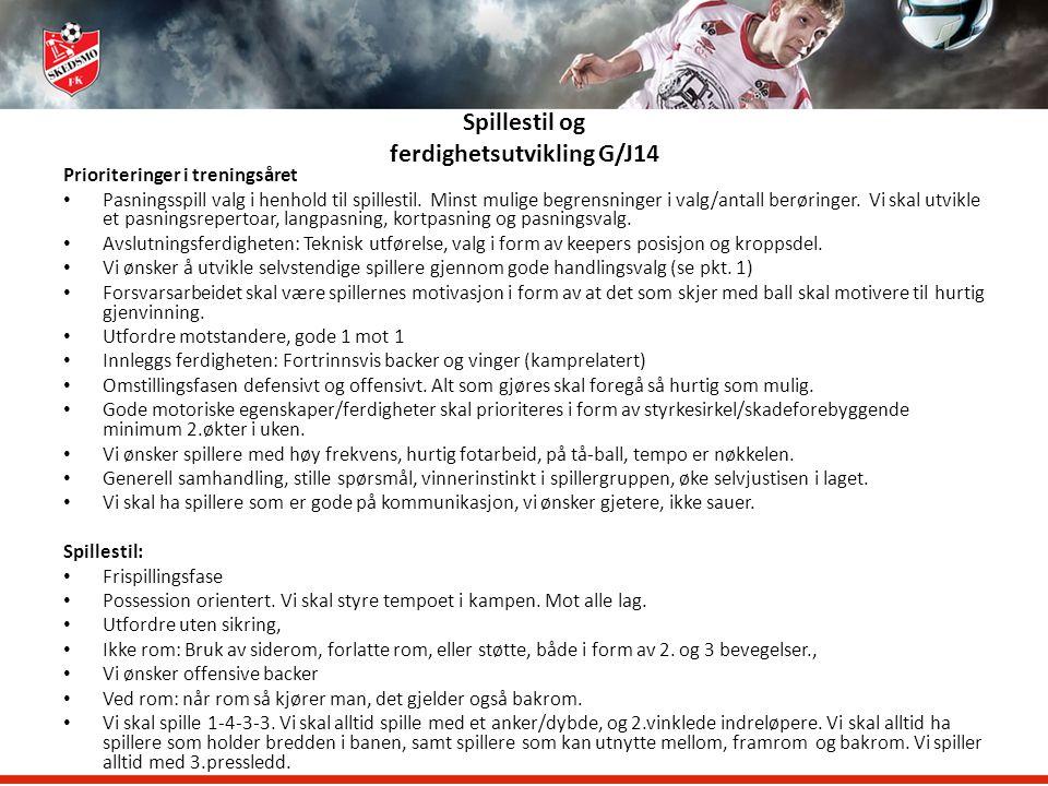 Skedsmo Fotballklubb Treneren og klubbens filosofi G/J15