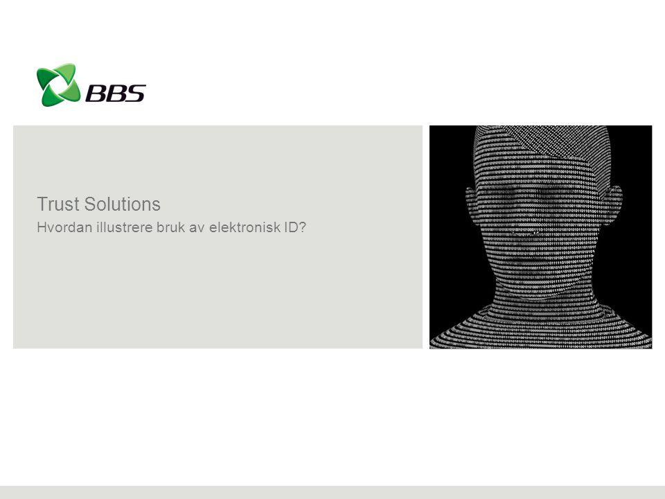 Trust Solutions Hvordan illustrere bruk av elektronisk ID?