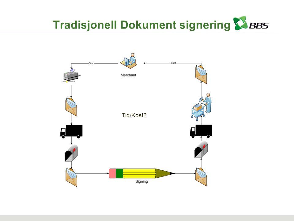 Tradisjonell Dokument signering Tid/Kost