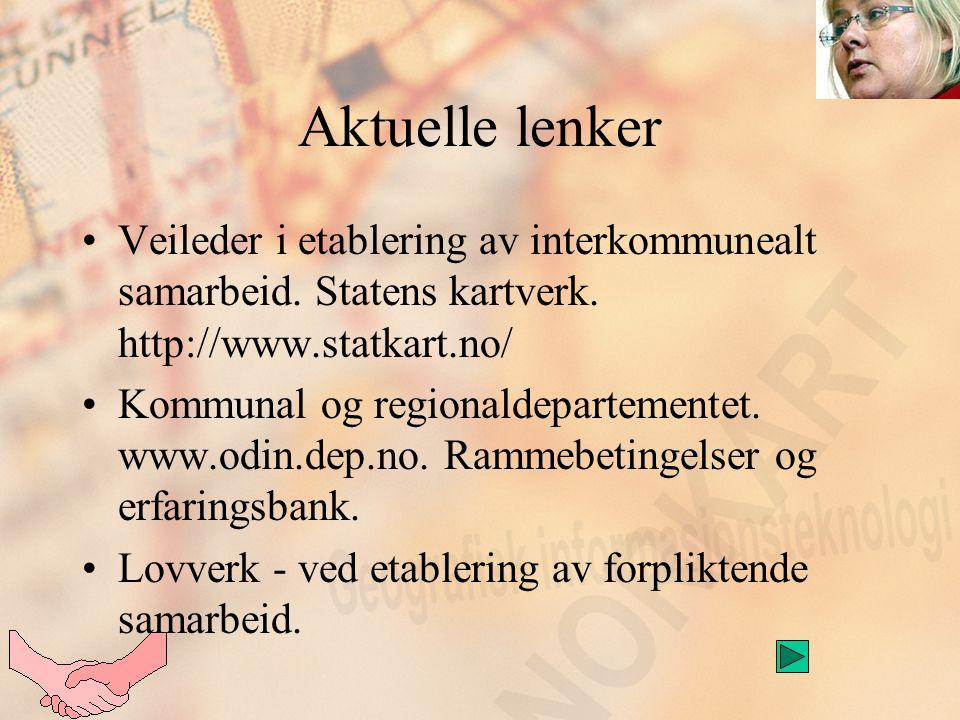 Aktuelle lenker Veileder i etablering av interkommunealt samarbeid.