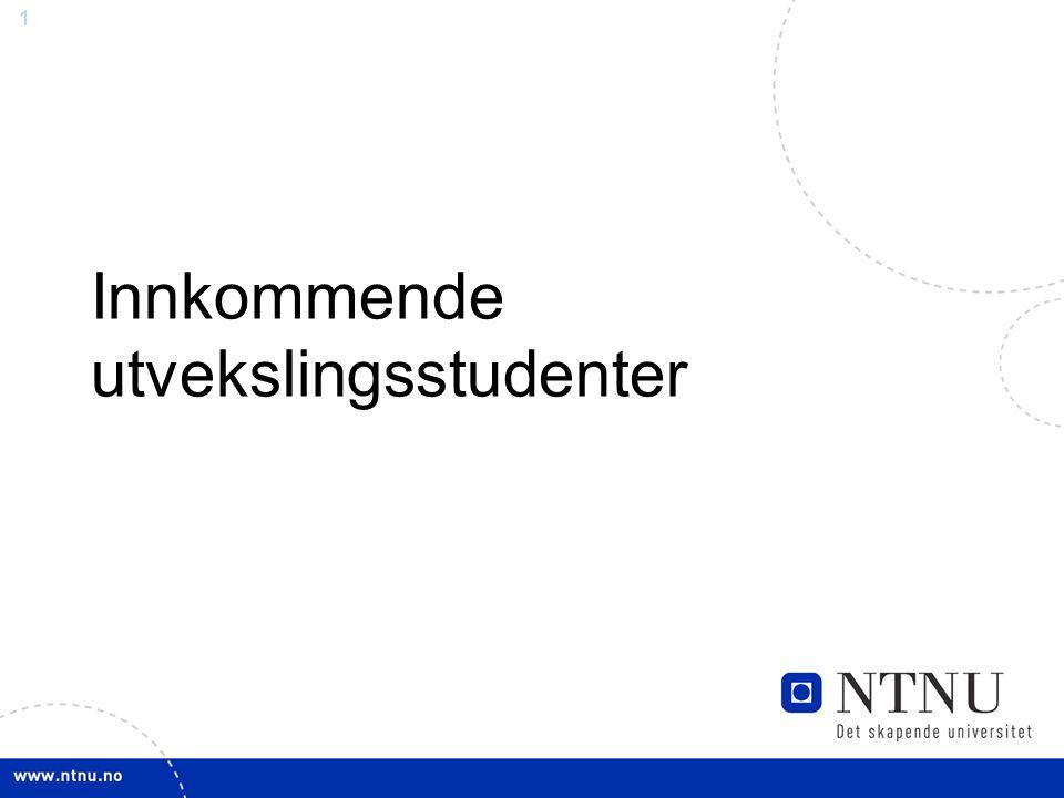 2 Søknadsprosess Student søker gjennom vårt nettbaserte søknadsskjema Hovedkategorier: Erasmus/Bilateral - Fra partnerlærested - Ofte nomineringsprosess ved hjemmeinstitusjon Free Mover - Utenfor avtale