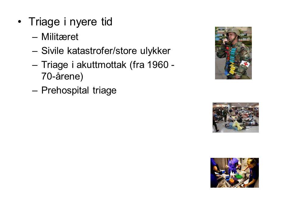 Litteratur- og referanseliste (ingen fullstendig liste) Fokusrapport Triagearbete på akutmottagning Stockholms läns landsting 2007 ISBN 91-85211-47-8 http://www.webbhotell.sll.se/PageFiles/3126/FR_Triage.pdf Ny träffsäker triagemetod METTS-A ger underlag för prioritering till rätt vårdnivå; Bengt R Widgren, Majid Jourak, Ann Martinius Läkartidningen nr 4 2008 volym 105 http://www.lakartidningen.se/store/articlepdf/8/8615/LKT0804s201_204.pdf http://www.lakartidningen.se/store/articlepdf/8/8615/LKT0804s201_204.pdf Prehospital triage enligt METTS-T ger mer effektiv traumasjukvård; Bengt R Widgren, Greger Nilsson, Per Örtenwall Läkartidningen nr 11 2009 volym 106 http://www.lakartidningen.se/store/articlepdf/1/11552/LKT0911s746_749.pdf http://www.lakartidningen.se/store/articlepdf/1/11552/LKT0911s746_749.pdf Akutvården säkrare och effektivare med gemensamma metoder; Bengt R Widgren, Per Örninge, Sven Grauman, Kristian Thörn Läkartidningen nr 49 2009 volym 106 http://www.lakartidningen.se/store/articlepdf/1/13282/LKT0949s3348_3349.
