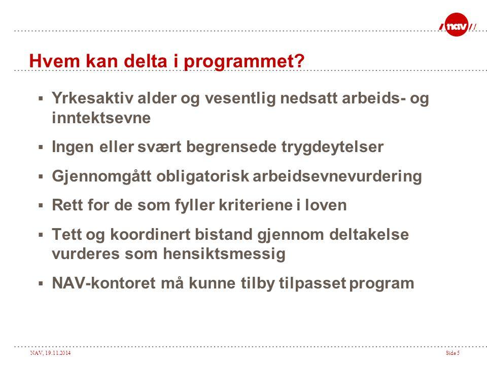 NAV, 19.11.2014Side 16 Hvordan komme raskt i gang.