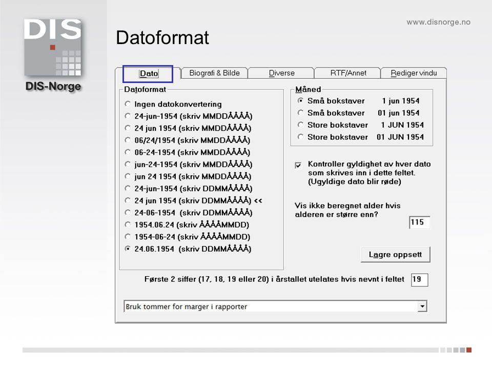 Plassering av bilder og tekst Mappe under BK7 database – slik BK anbefaler