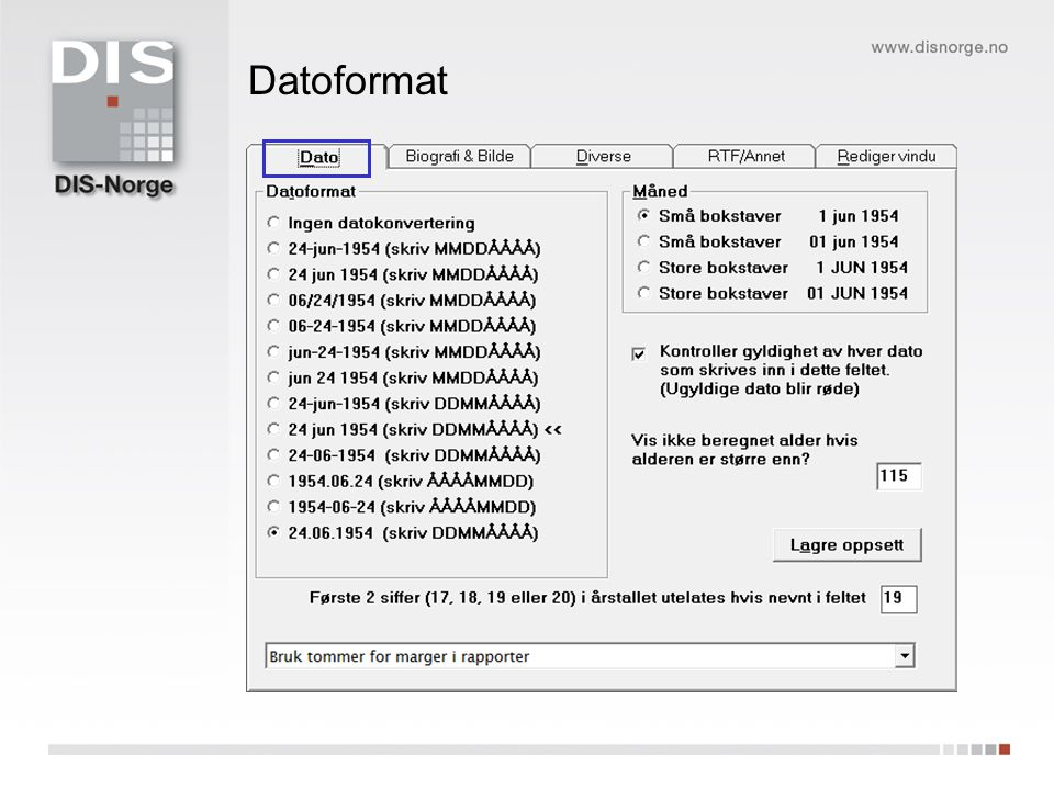 Datoformat