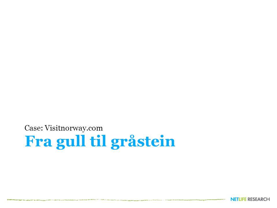 Fra gull til gråstein Case: Visitnorway.com