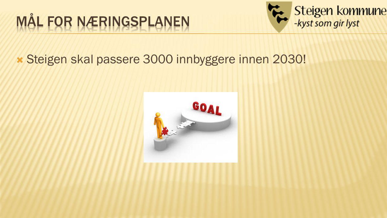  Steigen skal passere 3000 innbyggere innen 2030!
