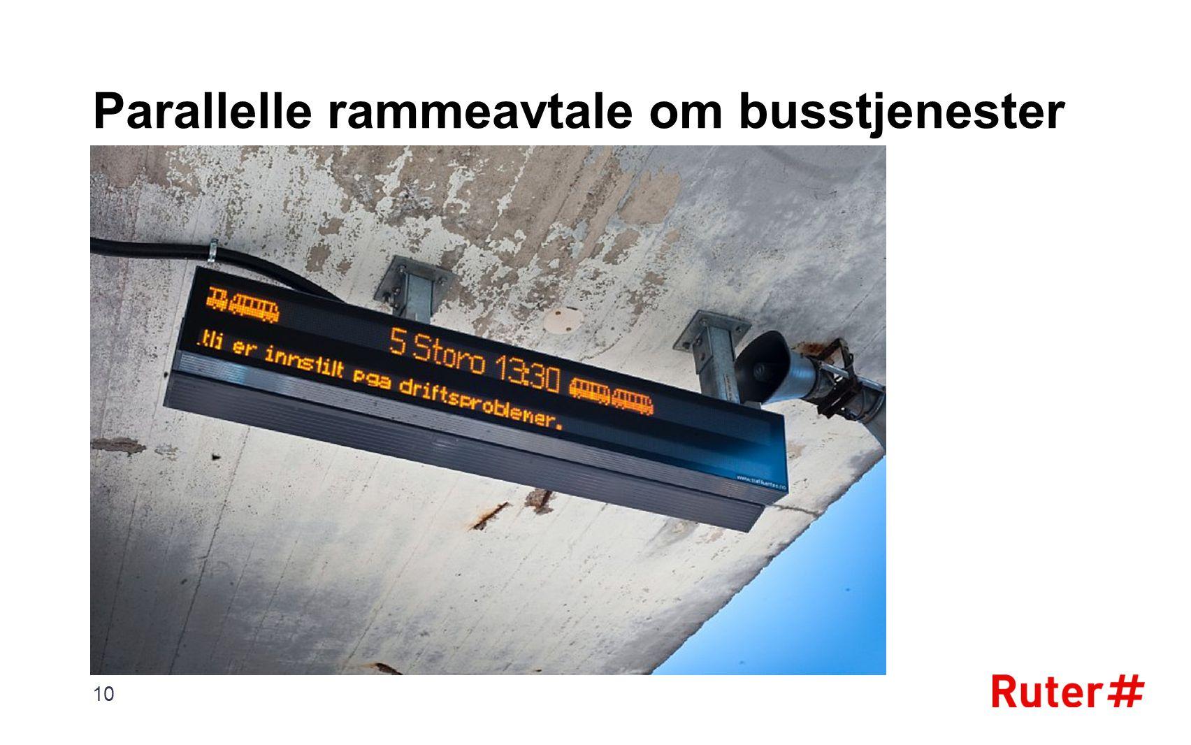 Parallelle rammeavtale om busstjenester 10