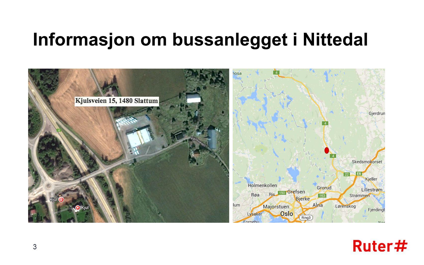 Informasjon om bussanlegget i Nittedal 3