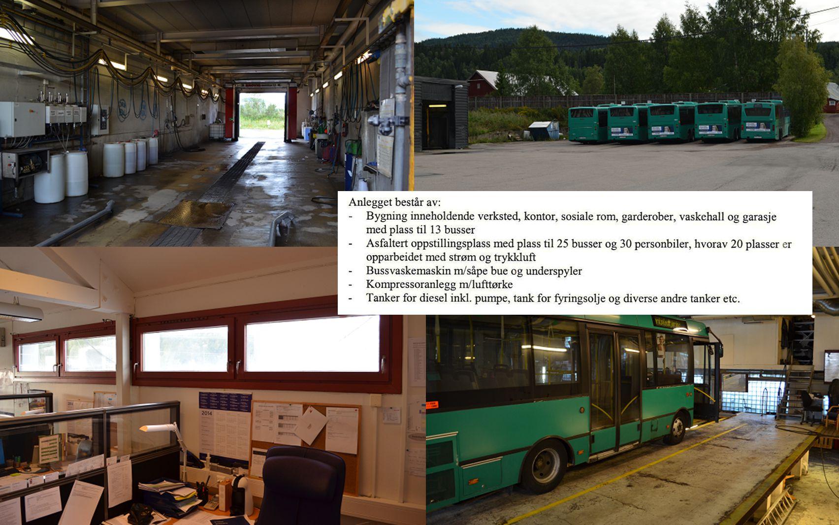 Mulige tilpasninger på bussanlegget  Økt kapasitet for utendørs parkering fra ca.